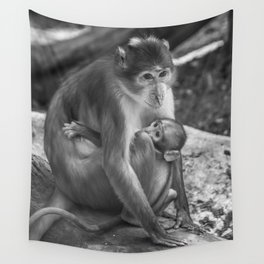 Baby monkey Wall Tapestry