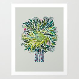 Poofy Asparagus Art Print
