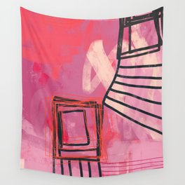 pinch me - abstract painting Wall Tapestry
