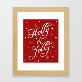 Holly and Jolly Holiday Design Framed Art Print