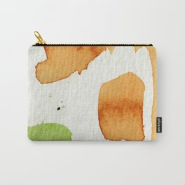 Orange and Green Abstract Art Carry-All Pouch