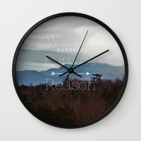 wander Wall Clocks featuring Wander by Brandy Coleman Ford