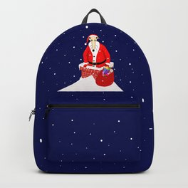 Christmas Whippet with snow Backpack