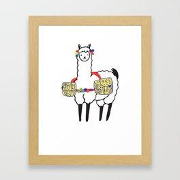 No Prob-Llama   Funny Cute Llama & Alpaca Lover Framed Art Print