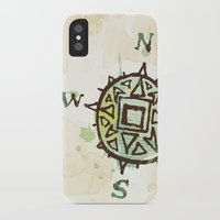 compass iPhone & iPod Cases featuring compass by JesseRayus