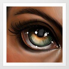 Hazel Eye Illustration Art Print