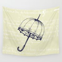 umbrella Wall Tapestries featuring Umbrella by Mr & Mrs Quirynen