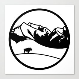 National Bison Range Canvas Print