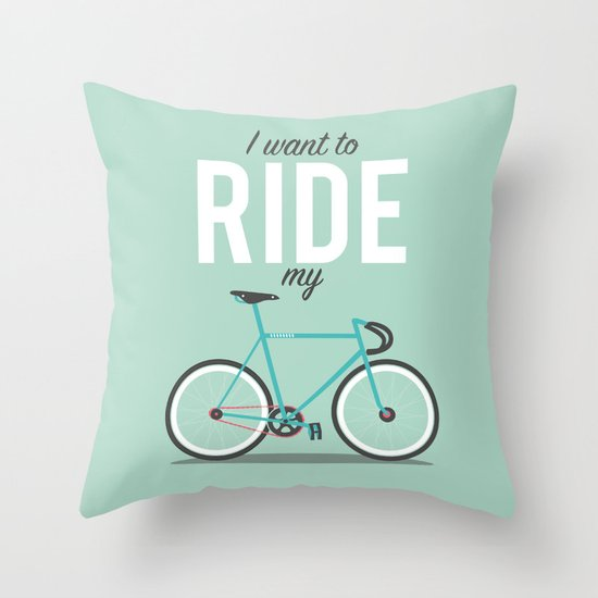 Ride Throw Pillow