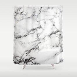Greyish White Marble Shower Curtain