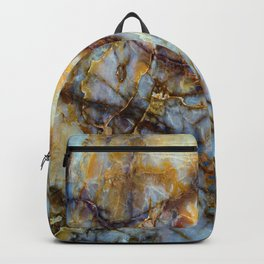 Natural turquoise and gold stone Backpack