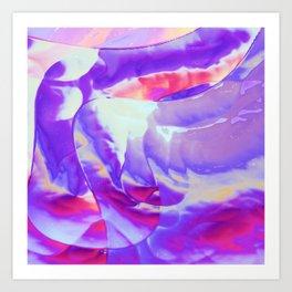 Breezy purple Art Print