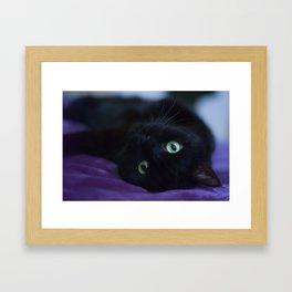 Lady rests Framed Art Print