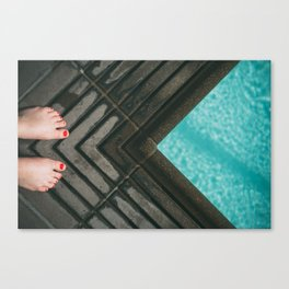 Ready to jump in Canvas Print