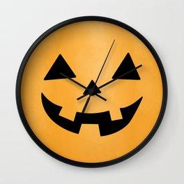 Happy Jack-O-Lantern Wall Clock