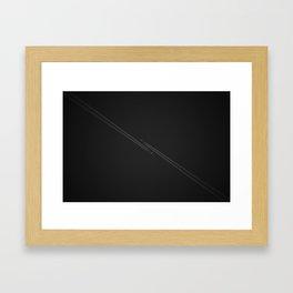 Danger Zone Framed Art Print