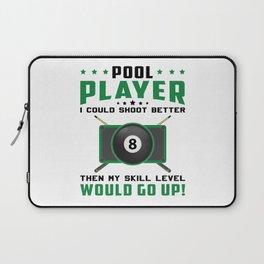 Pool Snooker Billiard 8 Ball Billiards Gift Idea Laptop Sleeve
