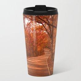 Autumnal Forest Road Travel Mug