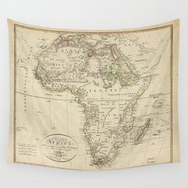 Map of Africa (1804) Wall Tapestry
