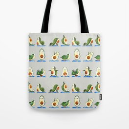 Avocado Yoga Watercolor Tote Bag