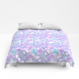 Video Game Controllers in Pastel Colors Comforters