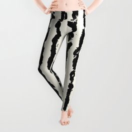 Vertical Ivory Stripes Leggings