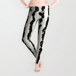 Vertical Ivory Stripes Leggings
