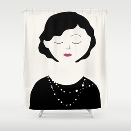 Coco in the sky with diamonds Shower Curtain