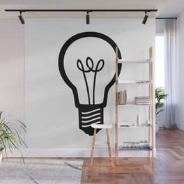 Simple Light Bulb Wall Mural