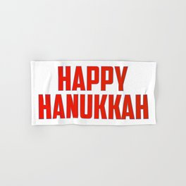 Happy Hanukkah Hand & Bath Towel