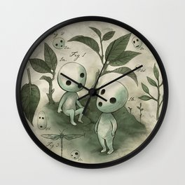 Natural Histories - Forest Spirit studies Wall Clock