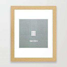 RAUCHER: a German smoker Framed Art Print