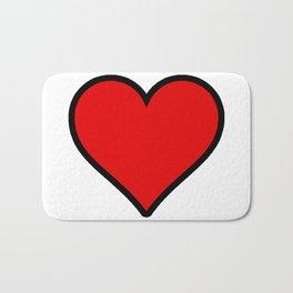 Heart Shape Digital Illustration, Modern Artwork Bath Mat