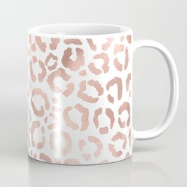 Chic Rose Gold Leopard Cheetah Animal Print Coffee Mug