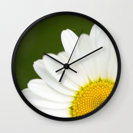 Beautiful Daisy Natural Green Background #decor #society6 #buyart Wall Clock