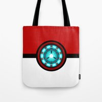 pokeball Tote Bags featuring Pokeball Reactor by aleha