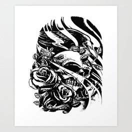 Skull collage,custom gift design Art Print