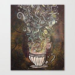 Chesire Coffee Canvas Print