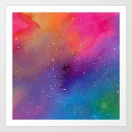 Watercolor Space 1 Art Print
