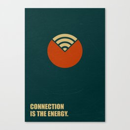 Lab No. 4 - Connection Is The Energy Corporate Start-Up Quotes Poster Canvas Print