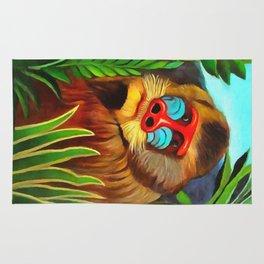 Henri Rousseau Mandrill In The Jungle Rug