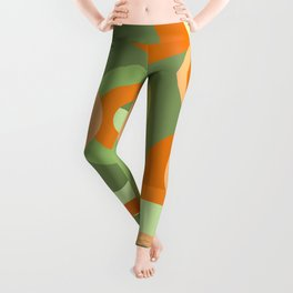Green Retro Ring design Leggings