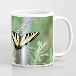 Yellow Tiger Swallowtail Butterfly. © J. Montague. Coffee Mug