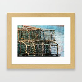 Lobster Crates South Africa Framed Art Print