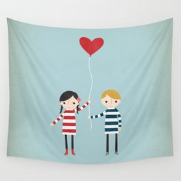 Love is in the Air - Girl Wall Tapestry