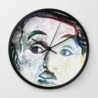 chaplin Wall Clocks featuring Chaplin by Marian - Claudiu Bortan