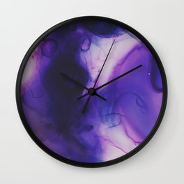 Violet Aura Wall Clock