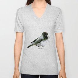 Crow, hooded crow art design Unisex V-Neck