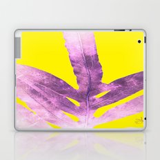 Green Fern on Bright Yellow Inverted Laptop & iPad Skin