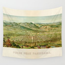 Pikes Peak Panorama, Colorado Springs, Colorado (1890) Wall Tapestry